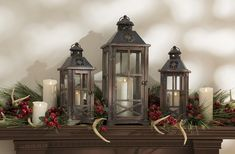 Rustic Lodge look featuring Liown Moving Flame™ Candles by M&B Products, a Division of RAZ Imports.