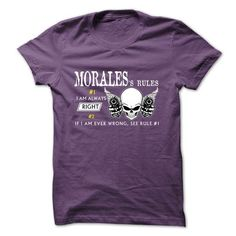 MORALES RULE\S Team - #red shirt #wet tshirt. WANT => https://www.sunfrog.com/Valentines/MORALES-RULES-Team-57388935-Guys.html?68278