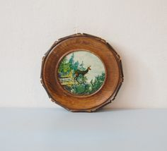 Vintage Wooden Wall Hanging - Deer Print. €12 thru Andrea #etsy