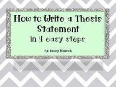 fun ways to teach thesis statements