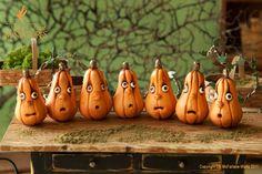 <3 polymer clay pumpkin decoration