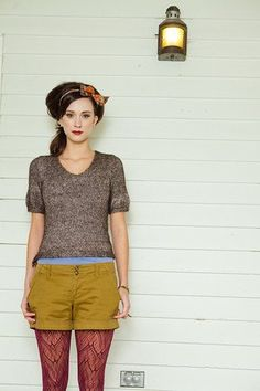 Hester Pullover pattern by Amy Herzog {Knit Scene Spring Knitting Daily, Summer Knitting, How To Start Knitting, Summer Sweaters, Knit Sweaters, Crochet Geek, Knitting Magazine, Vogue, Shorts With Tights