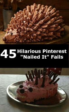 """45 Hilarious Pinterest """"Nailed It"""" Fails...makes me feel better when it actually turns out like the pin...Pinterest is not that easy!"""