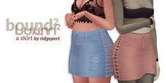 (bound skirt The sister to my bound shorts. I didn't really try concealing the kanye reference this time around rip to subtlety. there's 11 swatches denimy swatches. for females teen-elder; Sims 4 Teen, Sims 4 Dresses, Sims 4 Mm, Sims 4 Cc Finds, Pants For Women, Clothes For Women, Sims 4 Clothing, Sims Mods, The Sims4
