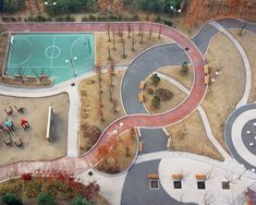 Between the gently curving lines and the toned-down colors, looking at Howon by Hosang Park just relaxes me. I could gaze from this birds-eye view for hours.