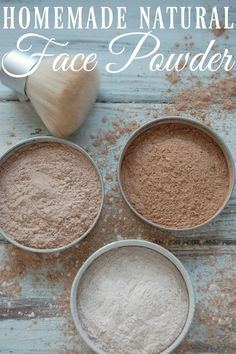 Homemade Natural Face Powder - Just three ingredients and suddenly you've made your own face powder for practically pennies!