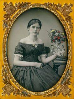 Nice handcolored flowers, ca 1850
