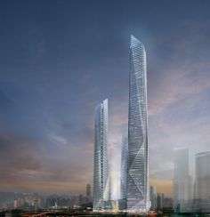 Lippo Group Chongqing Futuristic Design, Futuristic Architecture, Amazing Architecture, Architecture Design, Interesting Buildings, Amazing Buildings, Crazy Houses, Tower Building, High Rise Building