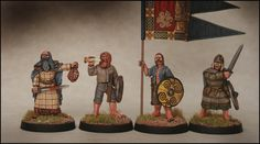 Arcane Scenery and Model Supplies presents DARK AGE IRISH Infantry Command Scale 2 Leaders, 1 Bannerman and 1 Musician, pack contains 4 figures. An Irish warband would be led by local leade Model Supplies, Irish Warrior, Three Best Friends, Early Middle Ages, Viking Age, Dark Ages, Saga, Medieval, History