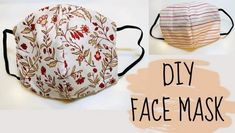 face mask sewing pattern DIY: How to sew Face Mask Easy Face Masks, Homemade Face Masks, Diy Face Mask, Sewing Patterns Free, Free Sewing, Hand Sewing, Free Pattern, Pocket Pattern, Pattern Sewing