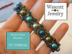 Saturn Chain Bracelet Pattern by WescottJewelry