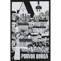 Erik Bruun: Porvoo-Borgå / Poster On Demand / 50 x 70 cm