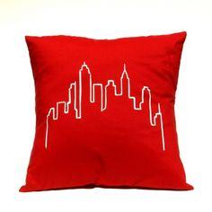 City Skyline - Handmade Cushion Cover - hardtofind.