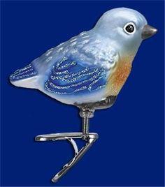 BABY-BLUEBIRD-OLD-WORLD-CHRISTMAS-GLASS-CLIP-BIRD-HAND-PAINTED-ORNAMENT-18093