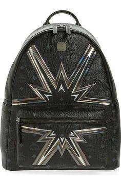 c4213ac2c6 MCM Stark Cyber Flash Medium Backpack.  mcm  bags  leather  canvas   backpacks  metallic