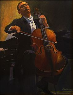 Max Raymer (ca.1890-1949) ~ The Cellist (1943)