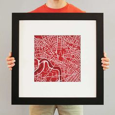 Harvard University Map Art | Dorm Room Decor | OCM.com