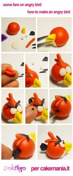 angry-bird- in pasta di zucchero