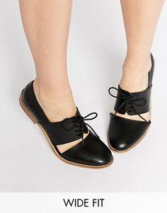 Zapatos planos anchos en cuero MARCIE de ASOS