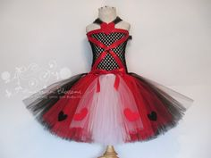 Queen of Hearts Costume Tutu Dress Baby Girls by AmericanBlossoms