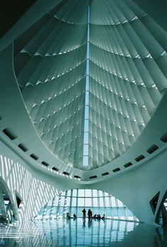 Milwaukee Art Museum Quadracci Pavilon by Santiago Calatrava Amazing Buildings, Modern Buildings, Beautiful Architecture, Interior Architecture, Planetarium Architecture, Museum Architecture, Contemporary Architecture, Interior Design, Milwaukee Art Museum