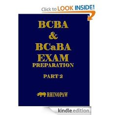 BCBA & BCaBA Exam Preparation Part 2. $8.99