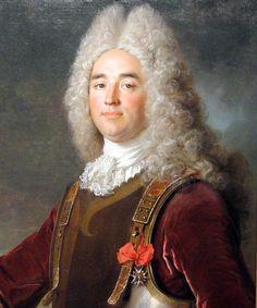 Capitaine Twin Peaks Big Wig! Charles Louis Remond, Comte de Hergh, Capitaine de Royal Croate, Chevalier des Ordres du Roy, by Nicolas de Largilliere, France, 1715.