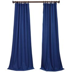 Estate Blue Heavy Faux Linen Curtain ❤ liked on Polyvore featuring home, home decor, window treatments, curtains, curtains & drapes, blue window treatments, blue home decor, blue curtains, blue home accessories and rod pocket curtains