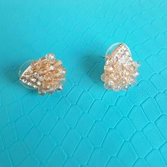 Perfect condition jeweled EARINGS Retro inspired White House Black Market Jewelry Earrings