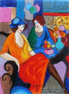 I Own a few of Tarkay's paintings, I like the colors, composition and design, very contemporary.