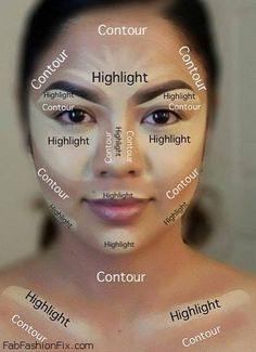 How to highlight and contour your face with makeup. #contour #makeup #highlight