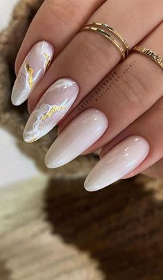 Beige Nails, Neutral Nails, Gold Nails, Pink Nails, Beige Nail Art, Stiletto Nails, Almond Acrylic Nails, Best Acrylic Nails, White Almond Nails
