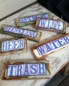 New Orleans Street Signs Mixed Media Salvage Art Tailgate Party Organization Home Decor