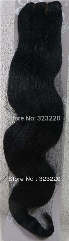 """42.75$  Watch here - http://alix1s.worldwells.pw/go.php?t=855831430 - """"Wholesale 18""""""""-26"""""""" Women's Remy Human Hair Weft Weaving Extensions Body wavy 100g Jet Black #1"""" 42.75$"""