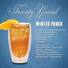 "Mixology: ""Winter Punch"" -- #20GrandVodka"