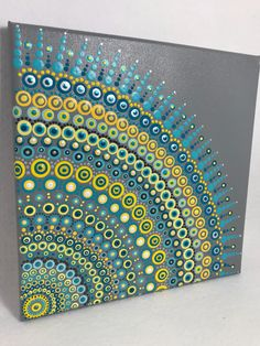 A personal favorite from my Etsy shop https://www.etsy.com/listing/591485318/original-mandala-painting-on-canvas