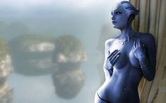 Mass Effect - Liara - Foresight into the blue by RenderEffect-Dan.
