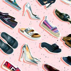 fashion background 16 best spring/summer shoes at any price Best Summer Shoes, Spring Shoes, Email Marketing Design, Email Design, Web Design, Layout Design, Web Layout, Vector Design, Design Trends