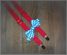 DESIGN YOUR OWN Boy's Bow Tie Suspender Set  by WillowRayneDesigns, $32.95