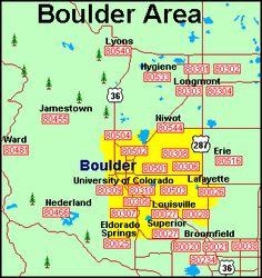 Zip Code Map Boulder Co | Zip Code MAP