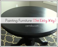 Furniture Painting Tutorial and Tips! « I am really going to do this!  I have at least fifteen pines on how to!