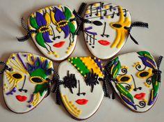 Mardi Gras 2012 | Mardi Gras Mask Cookies | Sweet Elizabeth