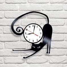 Reloj De Pared De Gato Disco De Vinilo   eBay