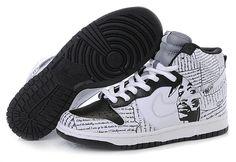 Nike Dunk High Custom Black History Month White Black