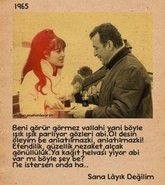 "✿ ❤ ""Sana Layık Değilim"" Türkan Şoray, Sadri Alışık (1965) Online Tests, Film Quotes, Cool Words, Serenity, Quotations, Pop Art, Poems, Nostalgia, Cinema"