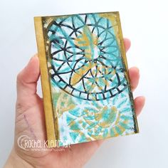 """"""" Rachel Kleinman shares a little book created made out of finished gelatin plate monoprints with TCW stencils."""""""