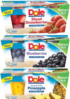 DOLE® today announced the introduction of two new products, DOLE® Fruit Smoothie Shakers® and DOLE® Frozen Fruit Single-serve Cups. Both contain froze