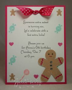 Gingerbread Party Invitations by jmasse - Cards and Paper Crafts at Splitcoaststampers
