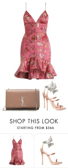 """""""GIVE ME THE NIGHT"""" by reyhannalee ❤ liked on Polyvore featuring Zimmermann, Giuseppe Zanotti and Yves Saint Laurent"""