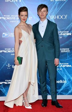Cynder and Husband Dane DeHaan attend the Amazing Spiderman 2 premiere.